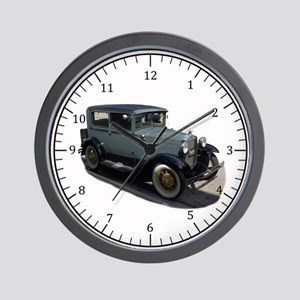 Ford Model A Grey Wall Clock