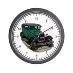 Ford Model A Green Wall Clock