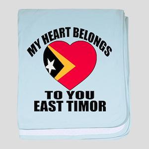 My Heart Belongs To You East Timor Co baby blanket