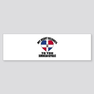 My Heart Belongs To You Dominican Sticker (Bumper)