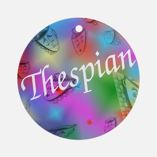 Thespian Ornament (Round)