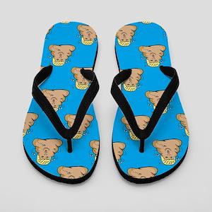 poo donald trump Flip Flops