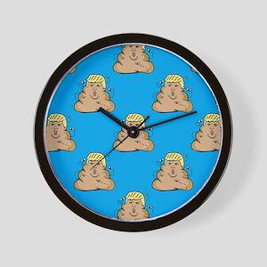 poo donald trump Wall Clock