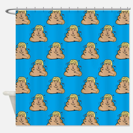 poo donald trump Shower Curtain