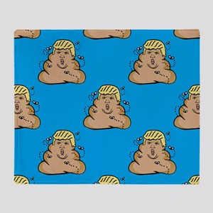 poo donald trump Throw Blanket