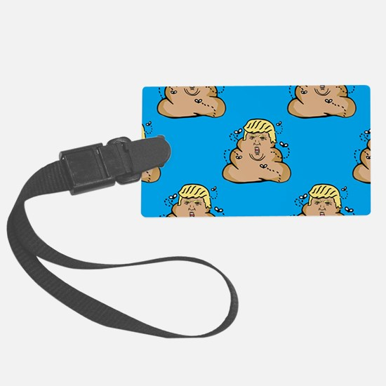 poo donald trump Large Luggage Tag