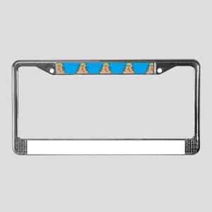 poo donald trump License Plate Frame