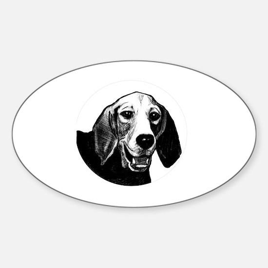 Cute Basset hound puppy Sticker (Oval)