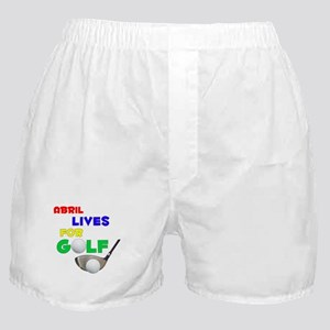 Abril Lives for Golf - Boxer Shorts