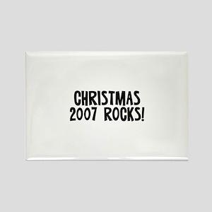 Christmas 2007 Rocks! Rectangle Magnet
