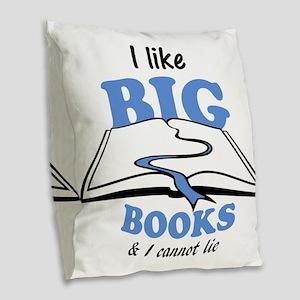 I like Big Books Burlap Throw Pillow