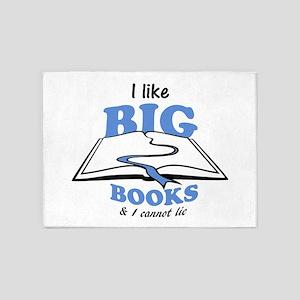 I like Big Books 5'x7'Area Rug