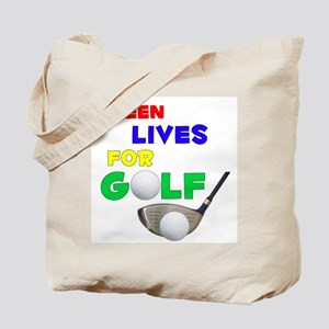 Aileen Lives for Golf - Tote Bag