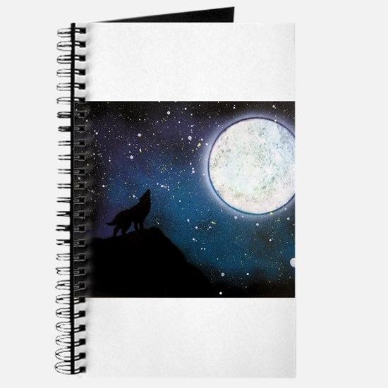Wolf Howling at Moon Journal
