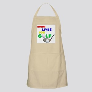 Amani Lives for Golf - BBQ Apron