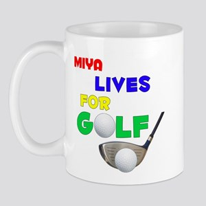 Miya Lives for Golf - Mug