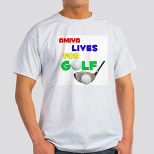 Amiya Lives for Golf - Light T-Shirt