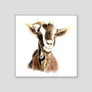 Watercolor Goat Farm Animal Sticker