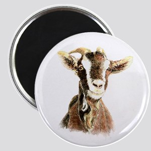 Watercolor Goat Farm Animal Magnets
