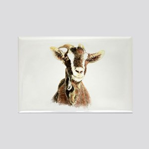 Watercolor Goat Farm Animal Magnets