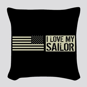 U.S. Navy: I Love My Sailor (B Woven Throw Pillow