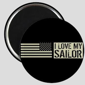 U.S. Navy: I Love My Sailor (Black Flag) Magnet