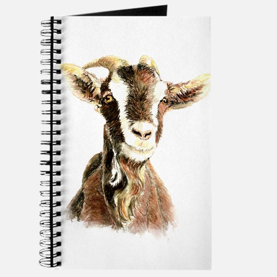 Watercolor Goat Farm Animal Journal