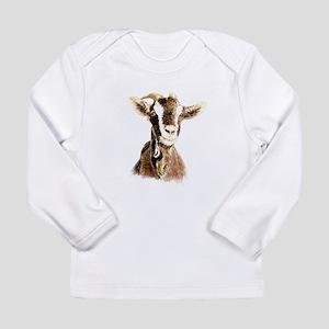 Watercolor Goat Farm Anima Long Sleeve T-Shirt