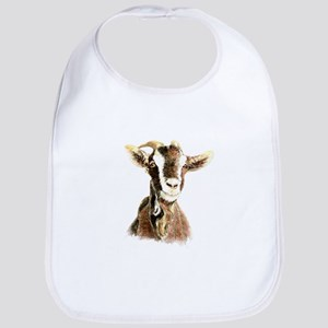 Watercolor Goat Farm Animal Bib