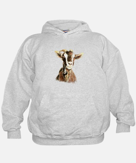Watercolor Goat Farm Animal Hoody