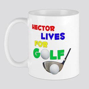 Hector Lives for Golf - Mug