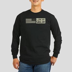 U.S. Navy: I Love My Sail Long Sleeve Dark T-Shirt