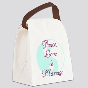 Peace, Love and Massage Canvas Lunch Bag