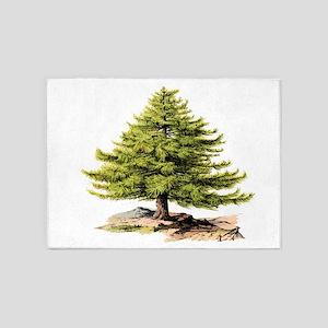 Vintage Pine Tree BM 5'x7'Area Rug