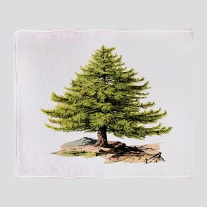 Vintage Pine Tree BM Throw Blanket