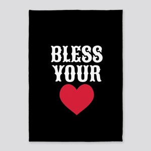 Bless Your Heart 5'x7'Area Rug