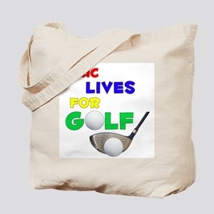Issac Lives for Golf - Tote Bag