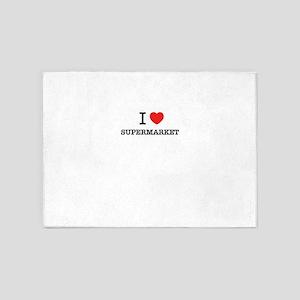 I Love SUPERMARKET 5'x7'Area Rug