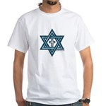 Star Of David and Cross White T-Shirt