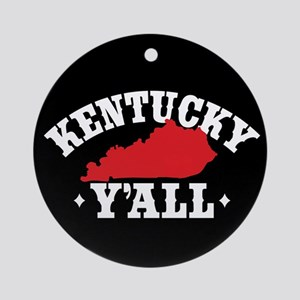 Kentucky Y'All Round Ornament