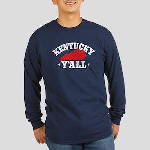 Kentucky Y'All Long Sleeve Dark T-Shirt