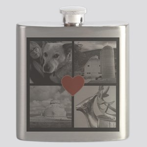 Photo Block with Heart Flask