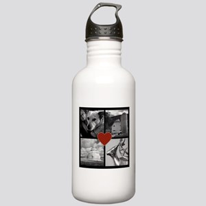 Photo Block with Heart Water Bottle