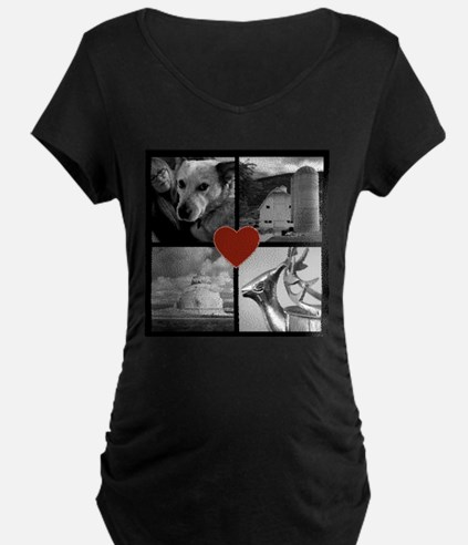 Photo Block with Heart Maternity T-Shirt