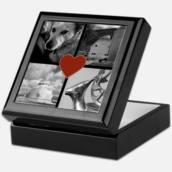 Photo Block with Heart Keepsake Box