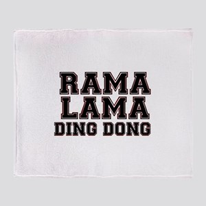 RAMALAMADINGDONG Throw Blanket