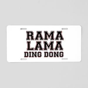 RAMALAMADINGDONG Aluminum License Plate