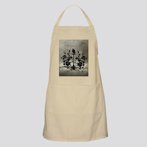 Awesome crow with flowers Apron