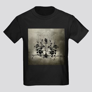 Awesome crow with flowers T-Shirt