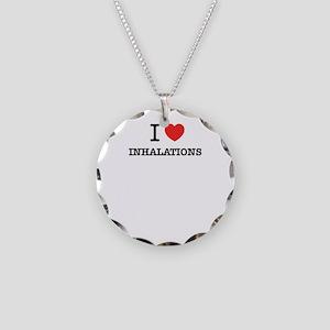 I Love INHALATIONS Necklace Circle Charm